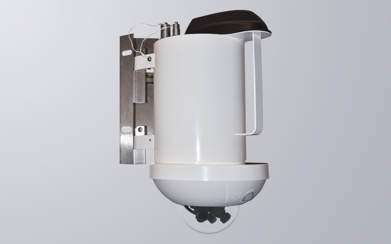 Self-contained wireless camera solution in a robust stainless steel enclosure