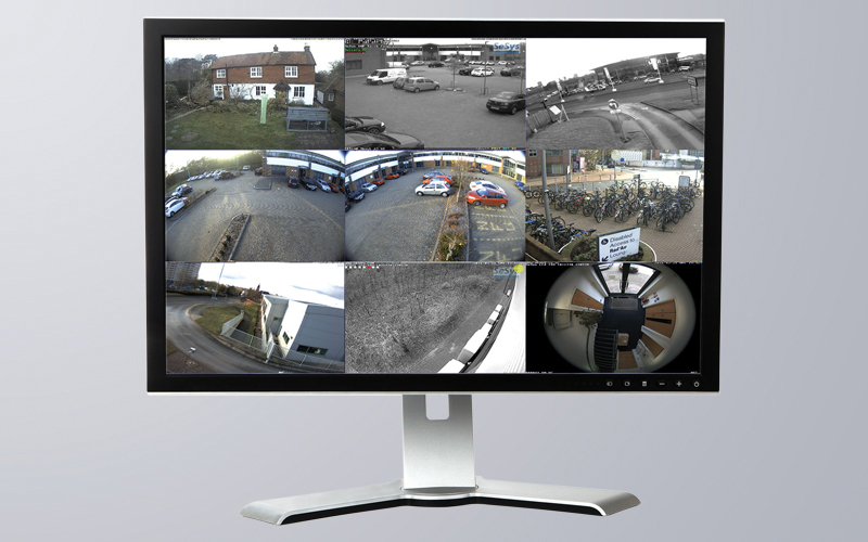 Stream up to 9 cameras in video matrix mode